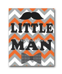 Little man Nursery Baby Boy Nursery Decor Baby