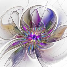 Abstract Digital Art - Energetic by Gabiw Art