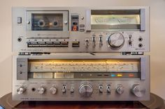 SONY TC-U5 Hi-Fi STEREO CASSETTE DECK (1978-79) & Sony STR-414L AM/FM Program Receiver (1978-79)