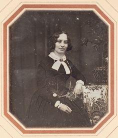 Daguerreotype of Pauline David by Wilhelm Breuning (Steindamm 144, St. Georg), 1848