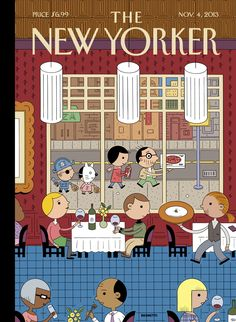 """The New Yorker - Monday, November 4, 2013 - Issue # 4519 - Vol. 89 - N° 35 - « Food Issue - Cover """"Fast Food"""" by Ivan Brunetti"""