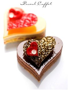 Saint Valentine cakes by Pascal Caffet