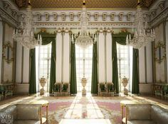 A Palace. Not sure which palace this is, but the architecture and decor are splendid. Palace Interior, Interior Exterior, Home Interior, Interior Windows, Interior Photo, Luxury Home Decor, Luxury Interior Design, Luxury Homes, Wilton House