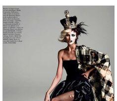 Model Anja Rubik wearing looks from Alexander McQueen, Chloe, Saint Laurent and many more   Photography by Inez van Lamsweerd...