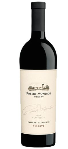 ROBERT MONDAVI Cabernet Sauvignon Reserve 2008 Napa Valley.  Rich, supple and graceful, with firm tannins supporting ripe plum, currant, blackberry and spice. Full-bodied, but not heavy or dense. Pleasantly complex and engaging.