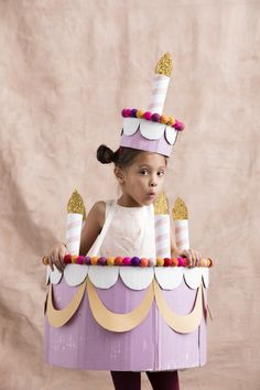 DIY Halloween Costumes : Halloween Costumes for Better Homes and Gardens – Mer Mag Fancy Dress Costumes Kids, Fancy Dress For Kids, Family Costumes, Baby Costumes, Cool Costumes, Children Costumes, Costume Ideas, Cake Costume, Costume Makeup