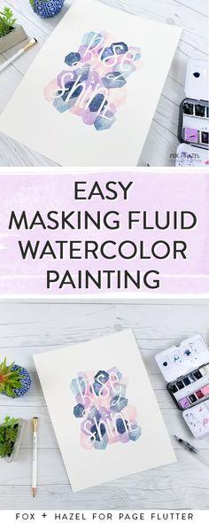Easy Masking Fluid Watercolor Art Tutorial