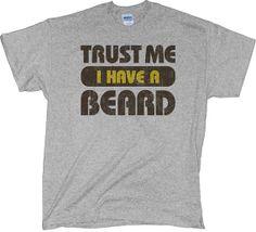 Funny Mens Beard T Shirt $14.95