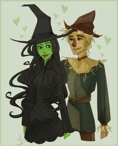 """Fiyero and Elphaba"" (I'm unaware of the actual title and the artist.)"