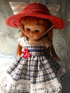 Doll dress and hat for vogue Ginny and friends.