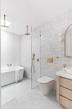 Condo Bathroom, Downstairs Bathroom, Modern Kitchen Design, Interior Design Kitchen, Kitchen Decor, Boutique Interior, A Boutique, Bathroom Inspiration, Bathroom Ideas