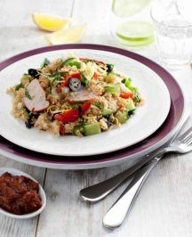 Ingredients and step-by-step recipe for Mediterranean Orzo Salad with Shrimp. Find more gourmet recipes and meal ideas at The Fresh Market today! Orzo Salad Recipes, Shrimp Recipes, Fish Recipes, Recipies, Healthy Recipes On A Budget, Gourmet Recipes, Whole Food Recipes, Healthy Meals, Healthy Life