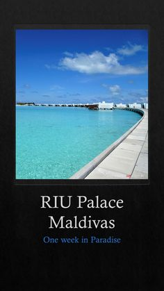 One week of luxury and relaxing days at RIU Palace Maldivas and a visit to RIU Atoll. Canada Travel, Travel Usa, Travel Reviews, Relaxing Day, New Zealand Travel, South America Travel, Africa Travel, Australia Travel, Travel Inspiration