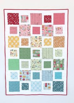 Diary of a Quilter: Fast, Beginner friendly, Five & Dime quilt tutorial Baby Quilt Tutorials, Quilting Tutorials, Quilting Projects, Quilting Designs, Sewing Projects, Free Tutorials, Quilting Ideas, Quilt Design, Applique Designs