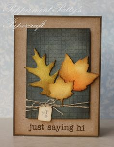 card leaf leaves foliage Fall Leaves autumn thanksgiving halloween season´s greetings