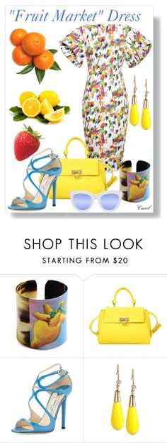 """Stella Jean"" by hastypudding ❤ liked on Polyvore featuring Stella Jean, Salvatore Ferragamo, Jimmy Choo, INC International Concepts, Quay, stellajean, designer, fashionset and AmiciMei"