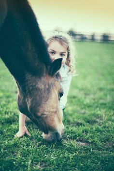 Adorable   Picture by Adam Brennan  #horse #kids #girl #animals