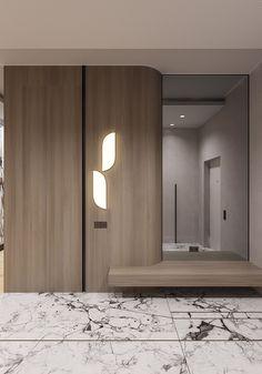 35 Bedroom Wardrobe Design Ideas Trending Right Now – Home Trends 2020 Hall Wardrobe, Wardrobe Door Designs, Wardrobe Design Bedroom, Modern Interior, Home Interior Design, Lobby Interior, Dressing Design, Flur Design, Hall Design