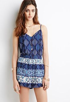 Striped Floral Print Romper | Forever 21 | #thelatest