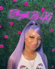 Colored Weave Hairstyles, Weave Ponytail Hairstyles, Baddie Hairstyles, Straight Hairstyles, Georgia, Hair Color Streaks, 100 Human Hair Wigs, Cool Hair Color, Purple Hair