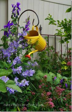 Watering Can Yard Art
