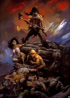 FIRE AND ICE by FRANK FRAZETTA