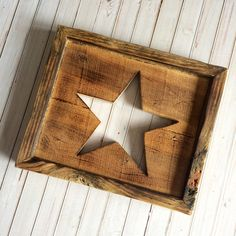 Rustic Star Rustic Star Wall Hanging Rustic Star by loveofshabchic #craftshout0319