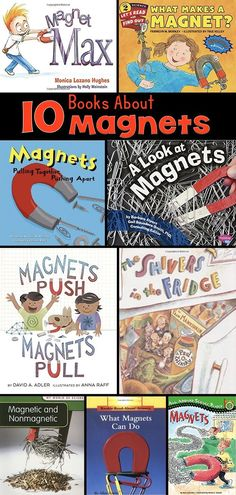 The invisible forces of magnetism are at work all around us, even as you read this sentence. To understand this concept, and how magnets work, can be difficult for students. These picture books about magnets will help make this concept more concrete. Kindergarten Science, Elementary Science, Science Classroom, Teaching Science, Teaching Ideas, Upper Elementary, Preschool, Science Education, Teaching Resources