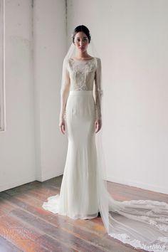 alia bastamam bridal 2013 long sleeve wedding dress