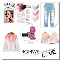 """""""ROMWE"""" by amursramstein ❤ liked on Polyvore featuring Converse"""