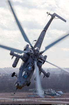 thebestofflying: Vigorous pilotage of the Night Hunters (aka Havoc)! Russia - Air Force.Mil Mi-28N.