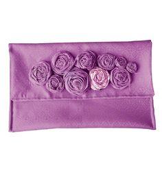 Love those rosettes! Clutch tutorial, too! #sew