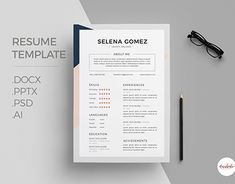 Elegant Floral Cv And Cover Letter Template Professional Cv