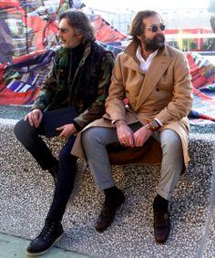 Marco Zamblado - Pitti wall Men's Fashion, Fashion Outfits, Classy Men, Tweed Blazer, Military Fashion, Latest Trends, Suit Jacket, Men Casual, Street Style
