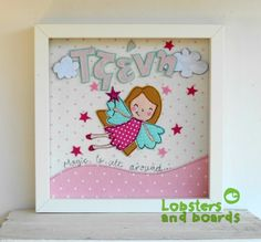 Handmade  free stitching personalised box frame  These beautiful framed gifts can be personalised with the details of your choice