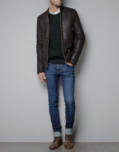 Great combination of Boots, Jeans & Leather Jacket - find similar cool stuff in our shop @ Bootsjeansandleathers.com