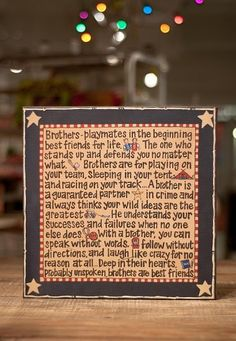Brothers Canvas - 14x14 - Click Image to Close