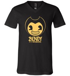 cool Bendy and the Ink Machine Unisex V-Neck T-Shirt