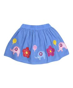 Look what I found on #zulily! Blue Elephant Skirt - Infant, Toddler & Girls by JoJo Maman Bébé #zulilyfinds