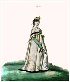 mode Regency.  période de costume de mode géorgien.