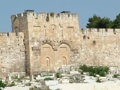 """East Gate of the Temple mount in Jerusalem, Israel known also by the names: Gate of Mercy"""" and the Golden Gate"""""""