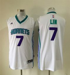 Charlotte Hornets #7 Jeremy Lin Revolution 30 Swingman 2015 New White Men's Jersey