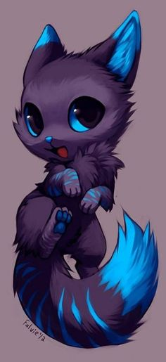 43 Ideas Cats Funny Drawing Kawaii For 2019 cats funny drawing - Katzen Arte Furry, Furry Art, Mythical Creatures Art, Fantasy Creatures, Funny Drawings, Drawings Of Wolves, Cute Wolf Drawings, Easy Drawings, Anime Animals