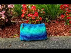 Crocheting in to Zipper: Easy Wallet with Knit Stitch (EN). Hello, Im Dimitra Bogri from . and today i am going to show you how to crochet into zipper and make a really easy wallet with knit stitch! Simple Wallet, Super Saver, Wallet Pattern, Purse Wallet, Ravelry, Purses And Bags, Stripes, Zipper, Stitch