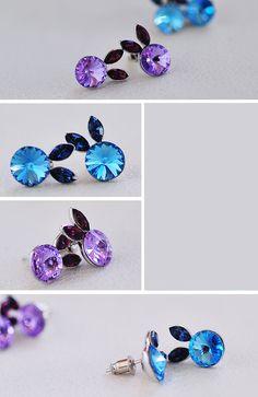 Cute Bunny Swarovski Crystal Earrings