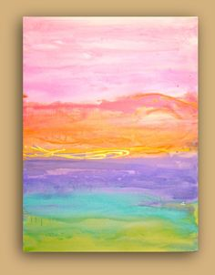 Abstract Acrylic Original Fine Art Painting Titled by orabirenbaum, $295.00