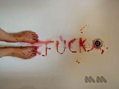 That fucking period, 2013. #fucking #period #blood #feet #streetart #performance #mion