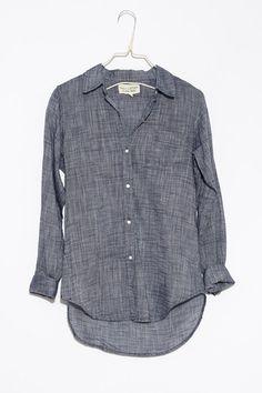 Dark Blue NL Shirt by Nili Lotan   shopheist.com