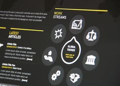 GHA Brand Alignment / Website / Infographic Series by Hype & Slippers , via Behance