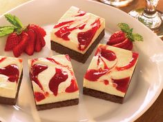 Strawberry Cheesecake Brownies from FoodNetwork.com